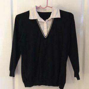 Black cotton sweater size M